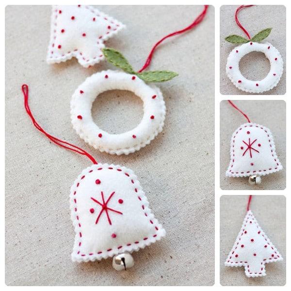 C mo hacer adornos navide os de fieltro pequeocio - Como hacer decoraciones navidenas ...