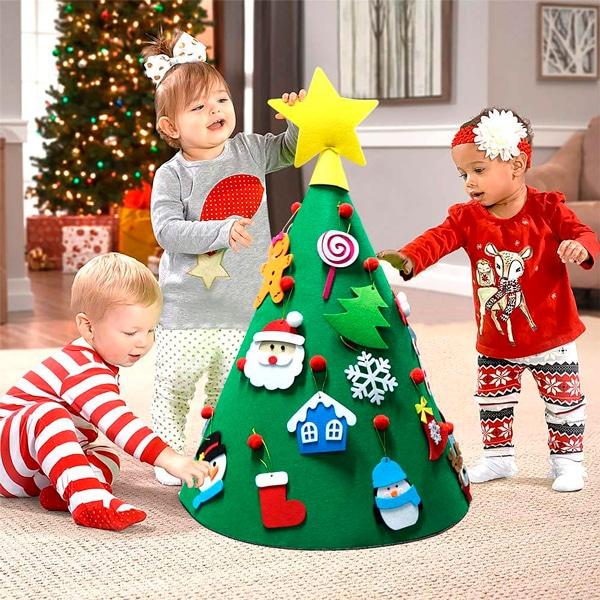 arbol de navidad de fieltro para niños