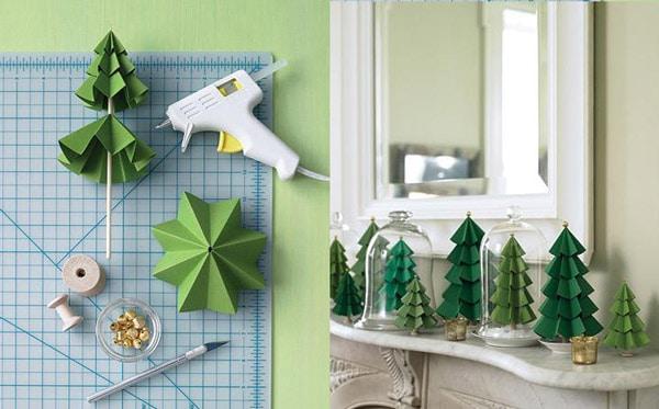 5 árboles de Navidad de papel