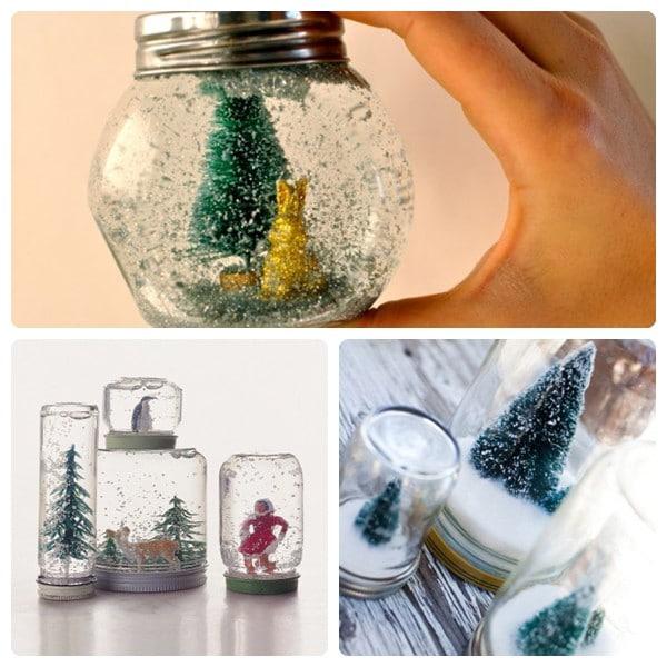 Cómo hacer Bolas de Nieve para Navidad 3