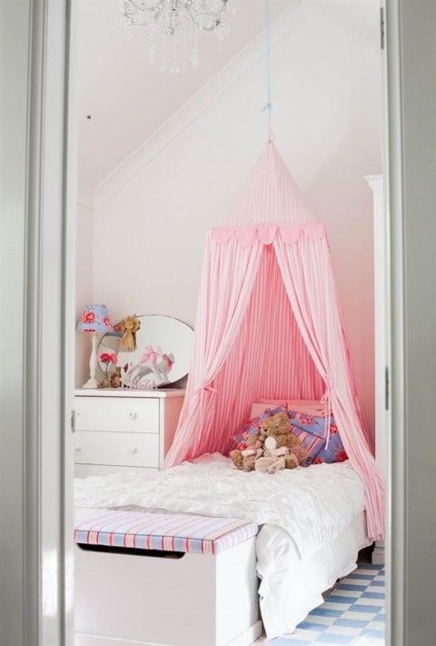 Habitaciones rosa para niñas 1