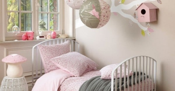 Habitación niña rosa