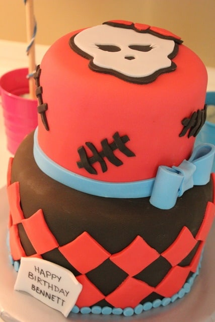 Tarta de cumpleaños de las Monster High