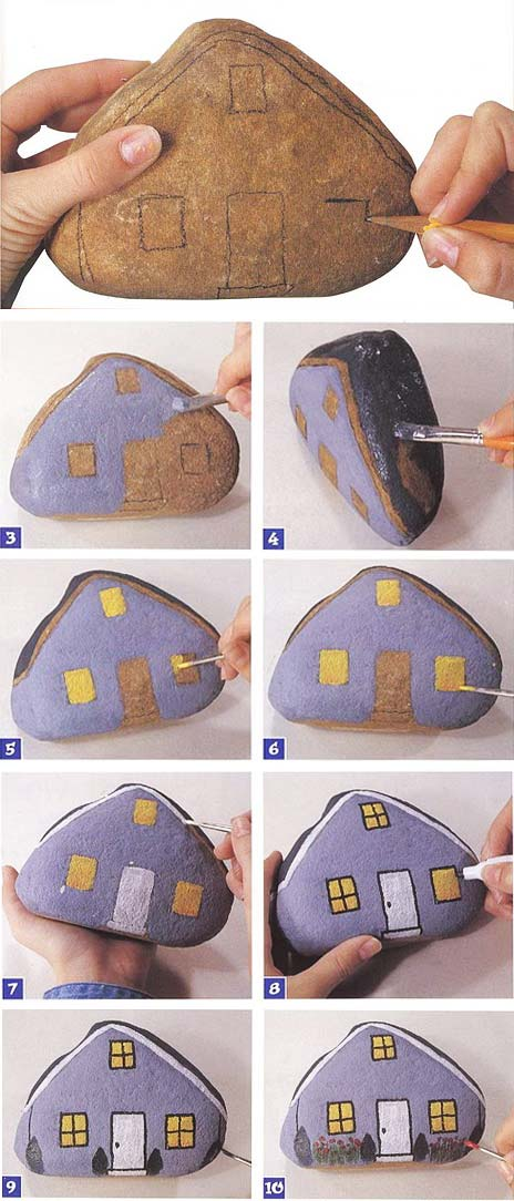 pintar piedras manualidades infantiles
