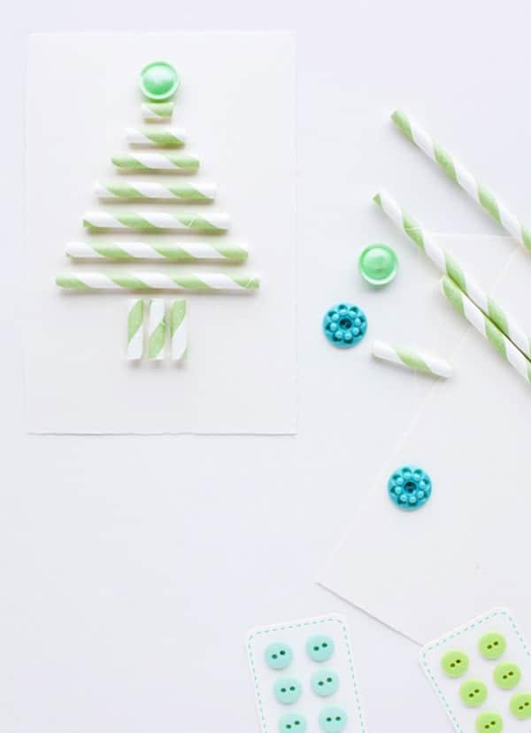 5 tarjetas de navidad hechas a mano pequeocio - Postal navidena infantil ...