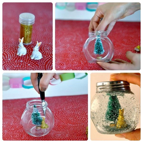 C mo hacer bolas de nieve para navidad pequeocio - Como hacer cosas de navidad ...