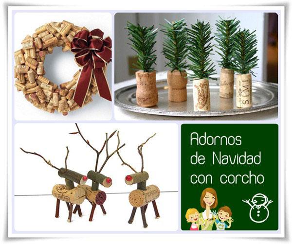 decoracin navidea con corchos