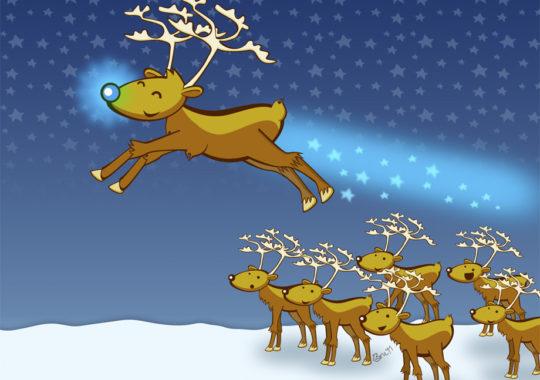 """Cuento de Navidad: """"El reno Moritz y su extraña nariz"""" 2"""