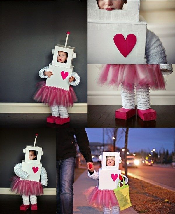 Un disfraz de robot para niñas muy femeninas - Pequeocio