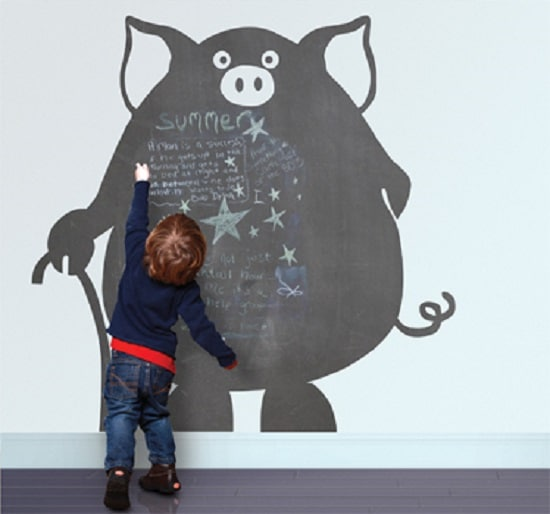 5 ideas originales para decorar paredes infantiles pequeocio - Pizarra pared infantil ...