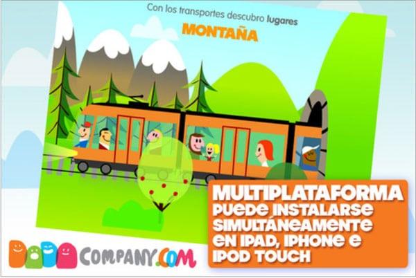 Con los transportes aprenda, app para niños