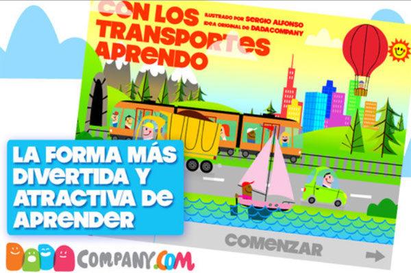 Con los transportes aprenda: app educativa para niños