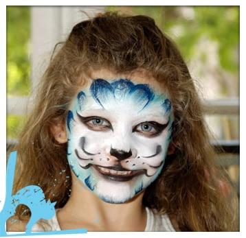 maquillaje de Halloween gata
