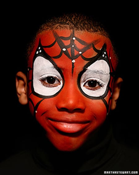 maquillaje Spiderman para niños