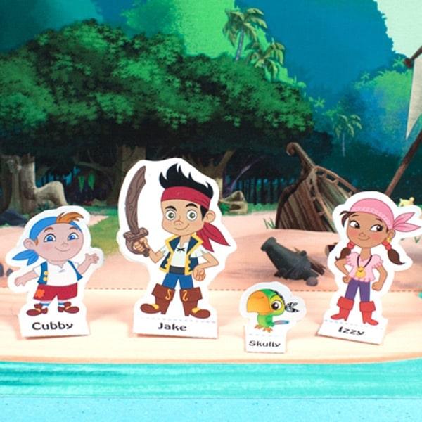 Recortables De Jake Y Los Piratas De Nunca Jam  S