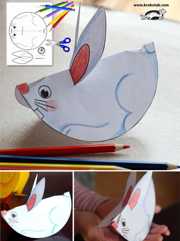 conejo de pascua de papel
