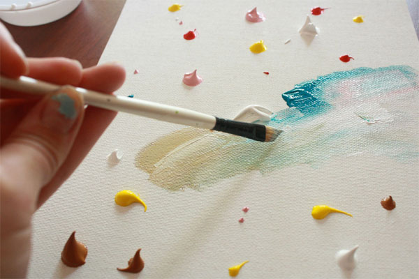 Manualidad infantil haz un cuadro de arte abstracto - Ideas para pintar cuadros ...