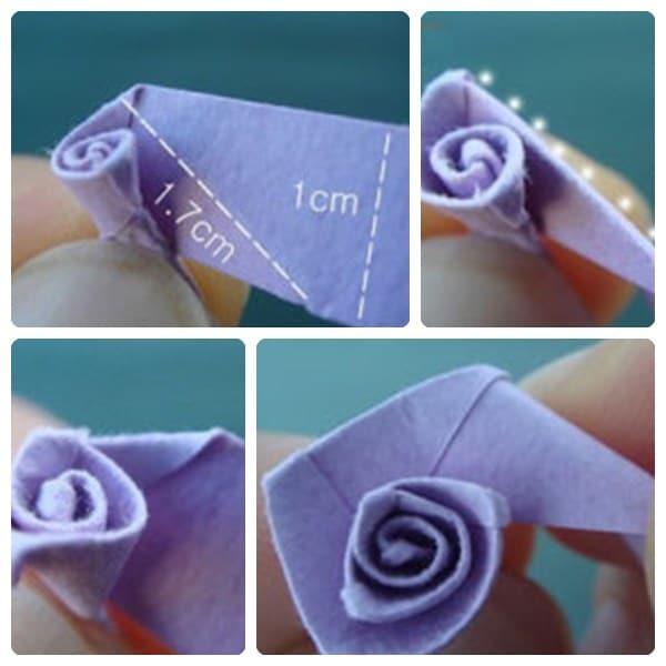 Cómo hacer flores de papel. Origami. Manualidad infantil con papel