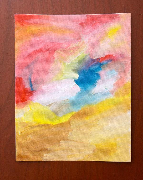 Manualidad infantil haz un cuadro de arte abstracto for Imagenes de cuadros abstractos para pintar