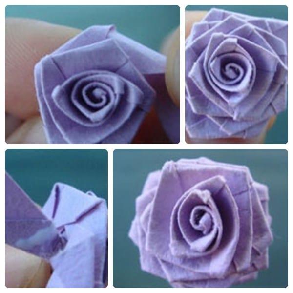 Como Hacer Flores De Papel Origami Manualidad Infantil Con Papel - Hacer-flores-con-papel