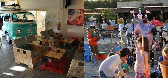 Hotel Martinhal cafetería y juegos