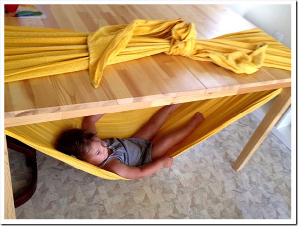 Cómo hacer una hamaca infantil