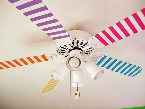 Decoraci n infantil ventiladores de colores habitaciones for Aspas para ventiladores