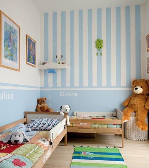 Habitaciones infantiles en tonos pastel.