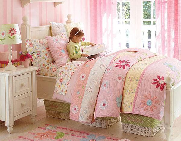 Habitaciones infantiles en tonos pastel - Dormitorios de nina en blanco ...
