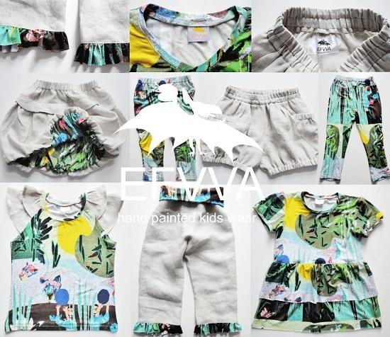 Efvva ropa infantil pintada mano