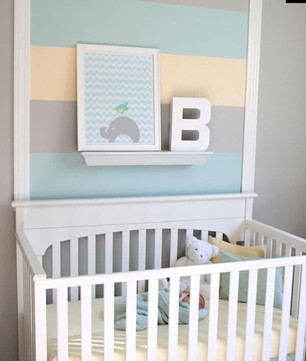 Habitaciones infantiles en tonos pastel for Decoracion habitacion de bebe varon