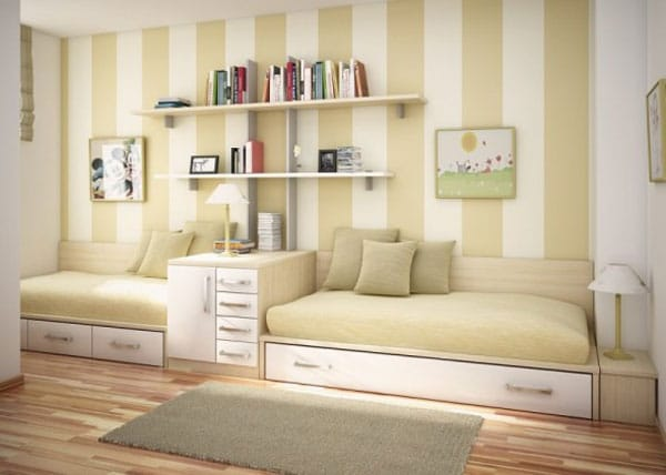 Habitaciones infantiles en tonos pastel