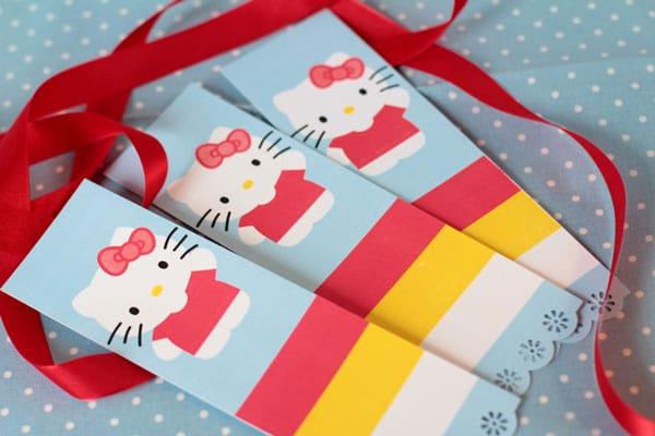 Hello Kitty cumpleaños marcapáginas