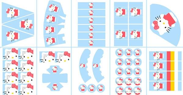 Imprimibles gratis cumpleaños Hello Kitty