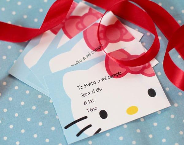 Invitación cumpleaños Hello Kitty