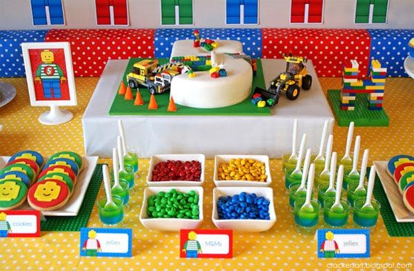 tarta para un cumpleaos infantil de lego