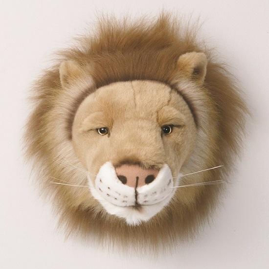 Cabeza peluche león