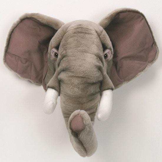 Cabeza peluche elefante