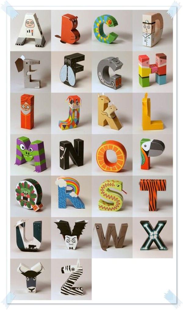 Alfabeto 3D para descargar gratis