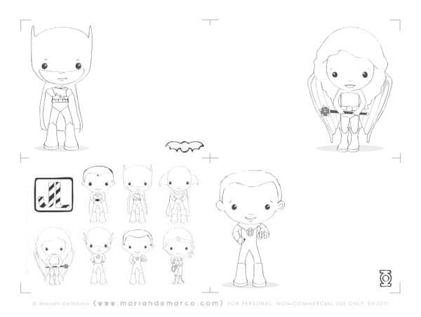 Dibujos de superhroes para imprimir y colorear