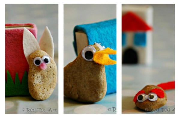 Mascotas con piedras, una manualidad divertida