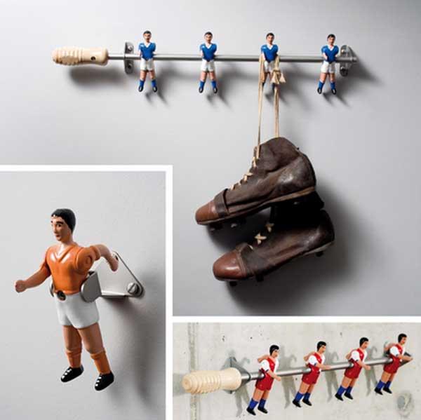 percha infantil de futbol