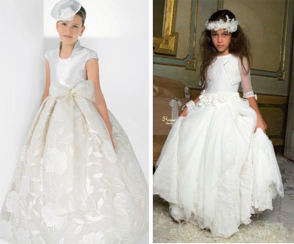 vestidos de primera comunion con brillos