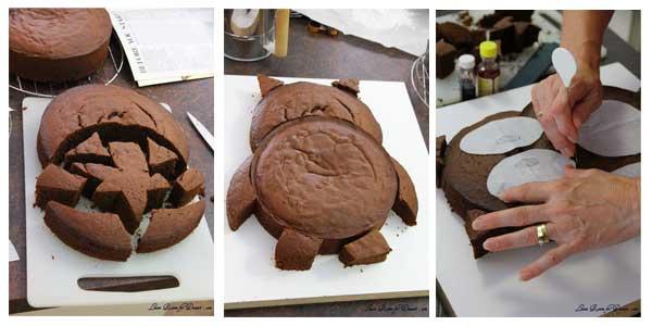 Una tarta búho paso a paso