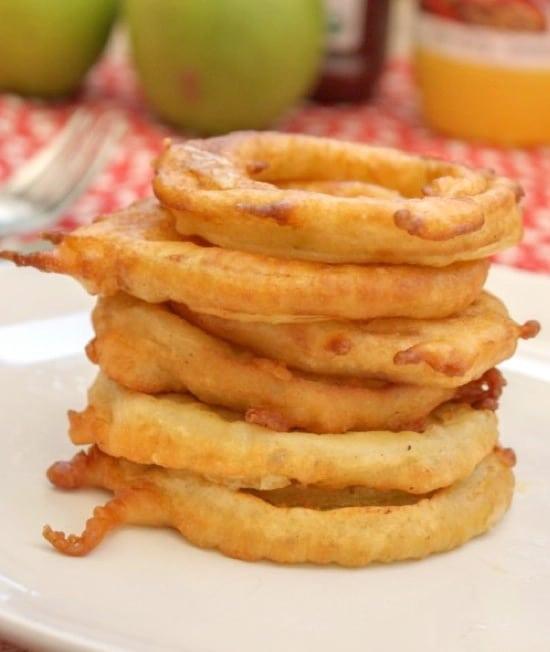 aritos de manzana fritos