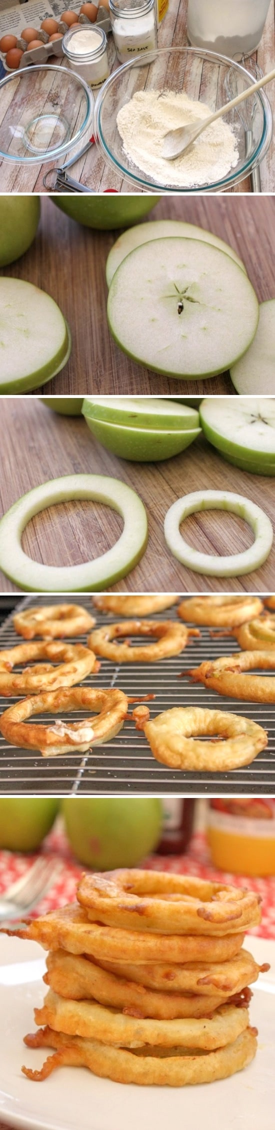 aritos de manzana receta con fruta