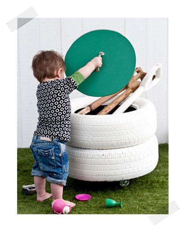 Cómo hacer un juguetero reciclado