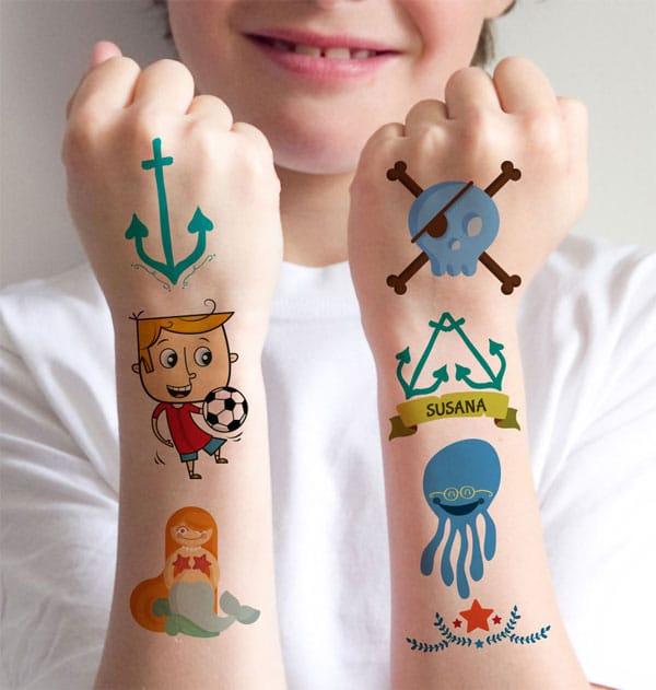 Tatuajes para niños, ¡qué divertidos!