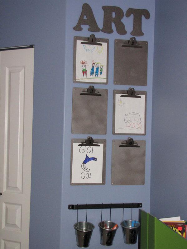 ideas originales para decorar paredes infantiles usar sus dibujos