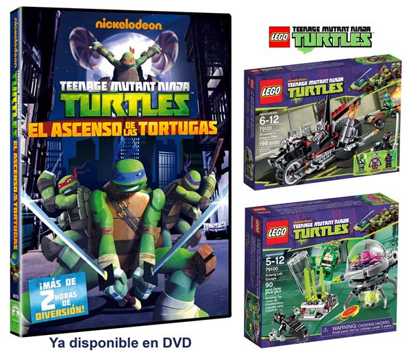 Sorteamos 5 JUEGOS DE LEGO de Las Tortugas Ninja  Pequeocio